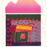 Matsubara Naoko, Tibetan Monastery A, 1986, color woodblock print on paper, Gift of the Society of American Graphic Artists, © 1986 Matsubara Naoko, 92.62