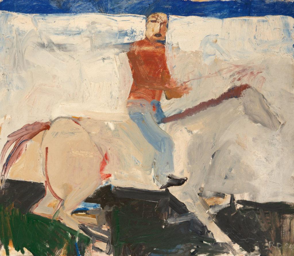 Richard Diebenkorn, Untitled (Horse and Rider), 1954. Oil on canvas, 21 x 24 in. (53.3 x 61 cm). © Richard Diebenkorn Foundation