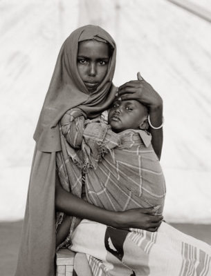 Fazal Sheikh, Alima Hassan Abdullai and her brother Mahmoud, Somali refugee camp, Mandera, Kenya, 1993