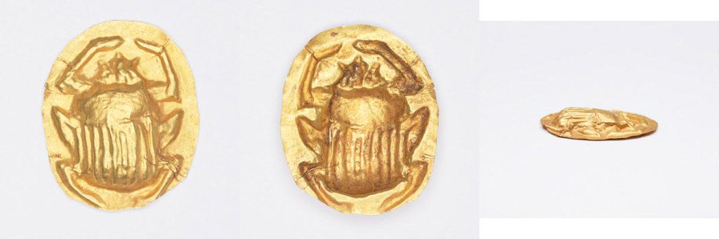 Gold Repoussé Scarab, Ptolemaic Period (304-30 BCE), gold