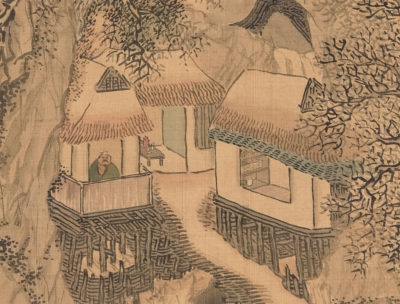 Yosa Buson, Thatched Retreat on Cold Mountain (detail), early to mid-1770s