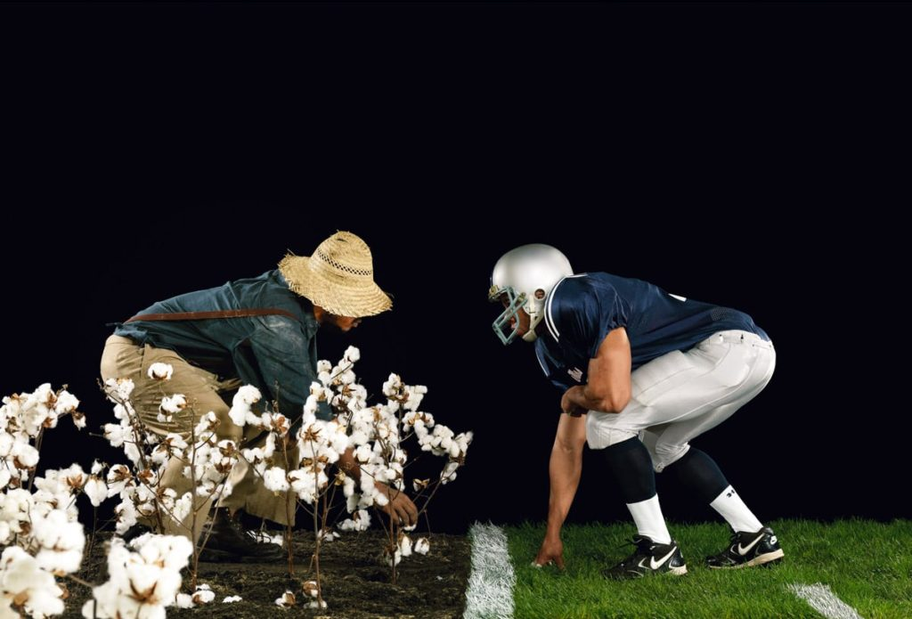 Hank Willis Thomas, The Cotton Bowl, from the series Strange Fruit, 2011