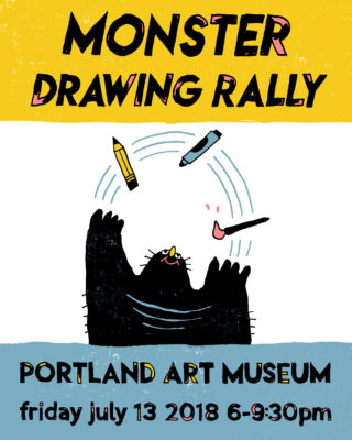 Monster Drawing Rally 2018 poster
