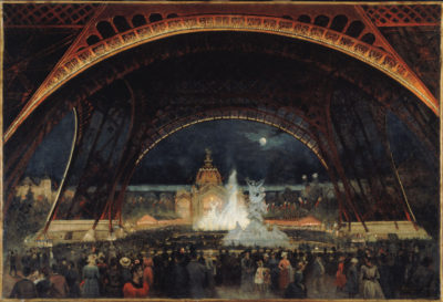 Georges Roux, Night Party at the Universal Exhibition in 1889, under the Eiffel Tower