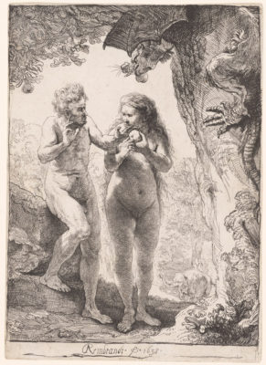 Rembrandt Harmensz van Rijn, Adam and Eve, 1638.