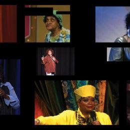Mickalene Thomas, Do I Look Like a Lady? (Comedians and Singers), 2016.