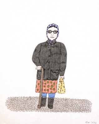 Annie Pootoogook, A Portrait of Pitseolak, 2003 – 2004.