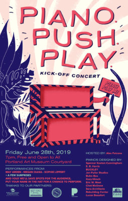 Piano. Push. Play. Poster