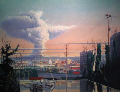Henk Pander, Eruption of Saint Helens from Cable Street, 1981.