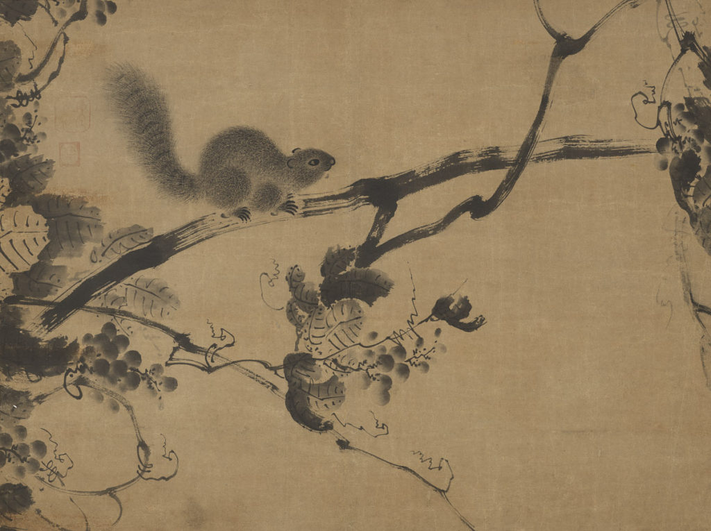 Unknown artist, Grapevine and squirrels, Joseon Dynasty (1392–1910).