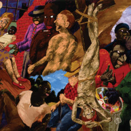 Robert Colescott, Knowledge of the Past is the Key to the Future: Upside Down Jesus and the Politics of Survival, 1987.
