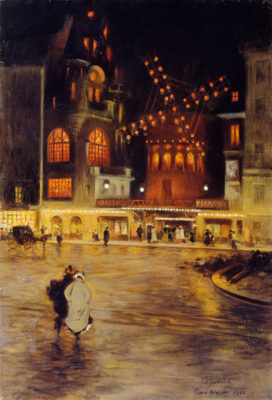 Edouard Zawiski, Place Blanche and the Moulin Rouge, 1902.