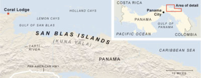 Map of San Blas Islands