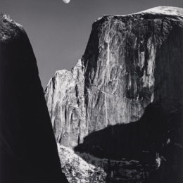 Ansel Adams, Moon and Half Dome, Yosemite National Park, 1960