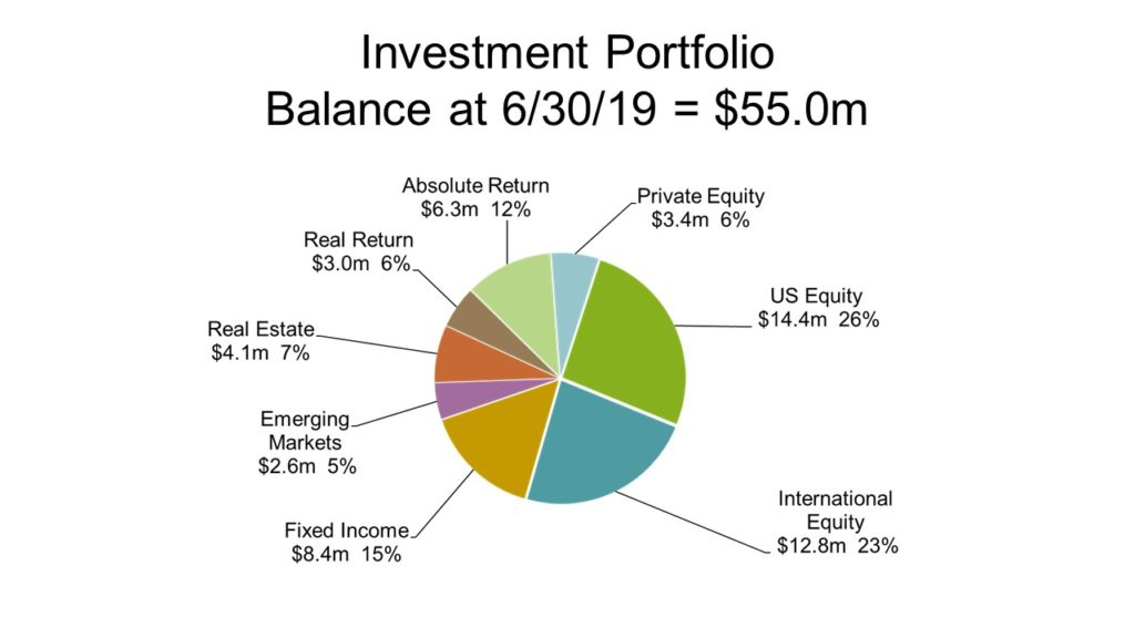 Chart of FY19 Investment Portfolio