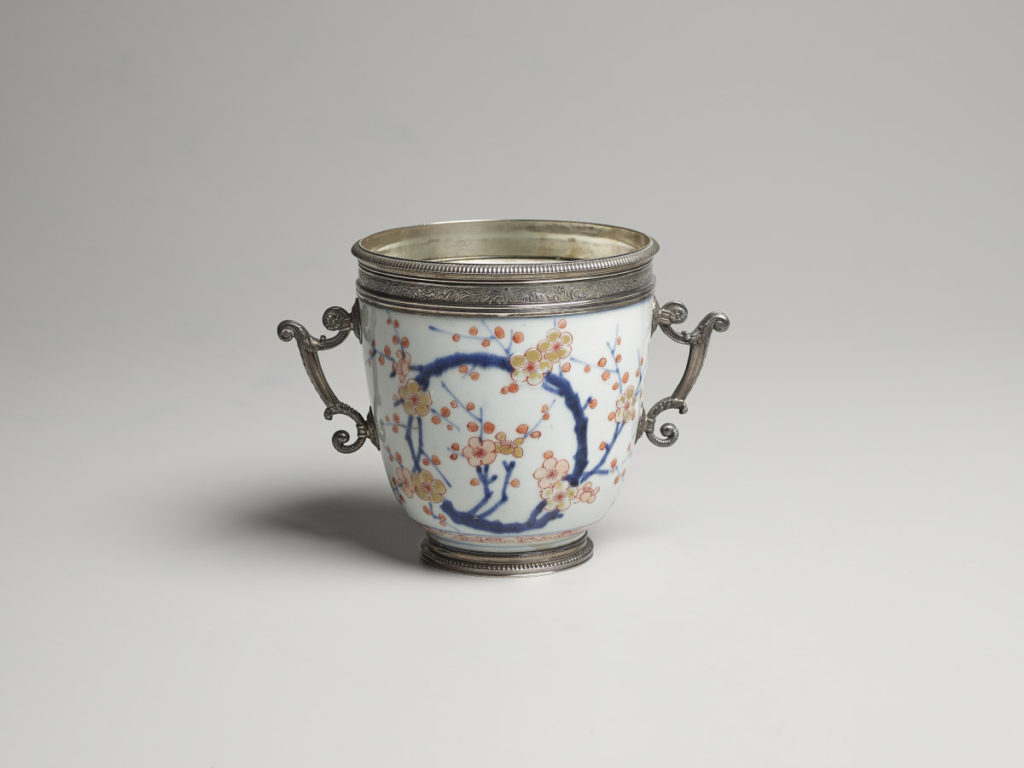 Hizen Ware Bowl with Plum Blossom Design and French Mount, ca. 1690/1710 (bowl); ca. 1710 (mount)