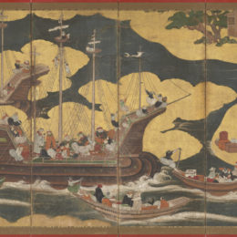 "Kano School, Nanban byōbu (""Southern Barbarian"" Screens), 1630/1650"