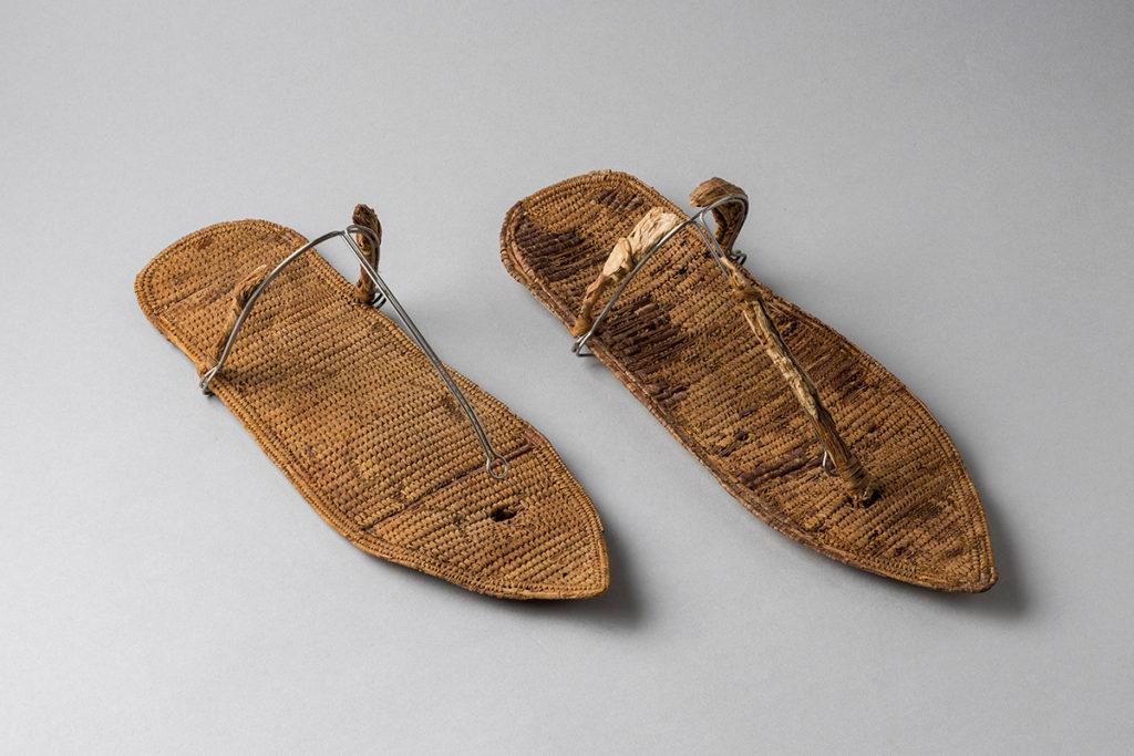 Sandals, ca. 1279-1213 B.C.E. Vegetal Fibers (Palm leaves). Tomb of Nefertari, Valley off the Queens. New Kingdom, 19thdynasty, reign of Ramesses II (ca. 1279-1213 B.C.E.) Museo Egizio, Turin.
