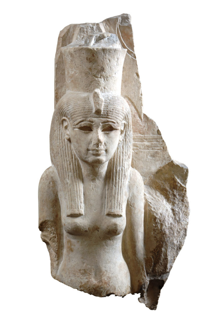Statue of the goddess Mut, New Kingdom, 18th-20th Dynasties, 1539 – 1076 B.C.E. Limestone.